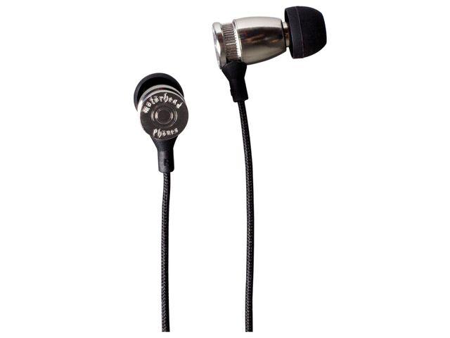obsah balení Sluchátka Motörheadphönes Trigger stříbrná + Pouzdro Burner 3XL (černá/bílá)