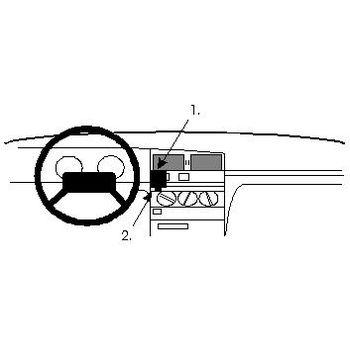 Brodit ProClip montážní konzole pro Peugeot 405 88-92, na střed
