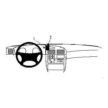 Brodit ProClip montážní konzole pro Peugeot 405 93-95, na střed vlevo