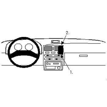 Brodit ProClip montážní konzole pro Toyota Starlet 92-95, na střed