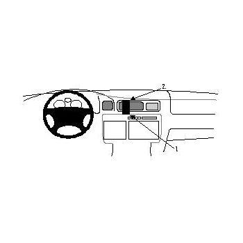 Brodit ProClip montážní konzole pro Toyota LandCruiser 95-98, na střed