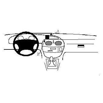 Brodit ProClip montážní konzole pro Renault Megane, Scénic, 96-99, na střed