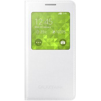 Samsung flipové pouzdro S-view EF-CG850BW pro Galaxy Alpha, bílá