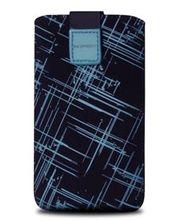 Fixed pouzdro Velvet s motivem Blue Stripes, velikost XL, modrá