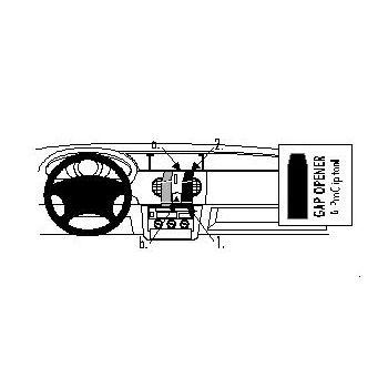 Brodit ProClip montážní konzole pro Renault Kangoo 98-02, na střed