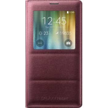 Samsung flipové pouzdro S-View EF-CN910BR pro Galaxy Note 4 (N910), fialové