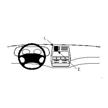 Brodit ProClip montážní konzole pro Ford Maverick 94-00, Nissan Terrano II 94-99, na střed