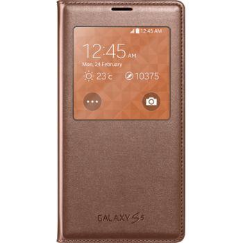Samsung flipové pouzdro S View EF-CG900BF pro S5 (G900), růžovozlaté