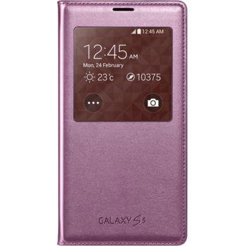 Samsung flipové pouzdro S View EF-CG900BP pro S5 (G900), růžové