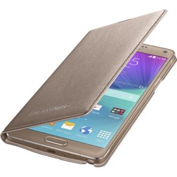 Samsung LED flipové pouzdro s kapsou EF-NN910BE pro Galaxy Note 4 (N910), zlaté