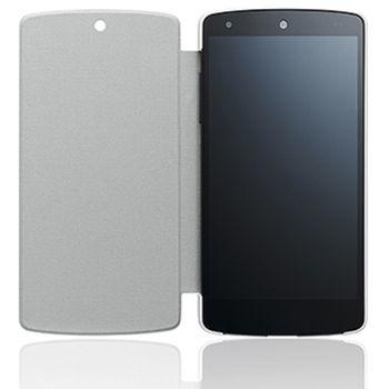 LG flipové pouzdro QuickCover CCH-250A pro LG Nexus 5, bílé