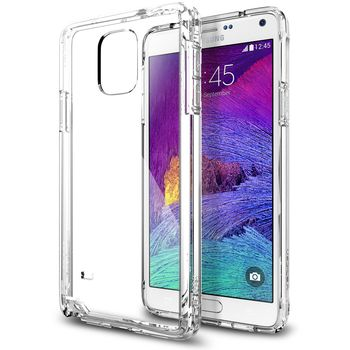 Spigen pouzdro Ultra Hybrid pro Samsung Galaxy Note 4, transparentní