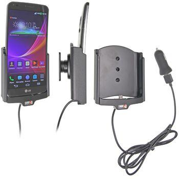 Brodit držák do auta na LG G Flex bez pouzdra, s nabíjením z cig. zapalovače/USB