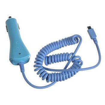 CELLY CL autonabíječka s konektorem microUSB, 1A, modrá