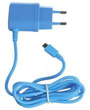 CELLY cestovní nabíječka s konektorem microUSB, 1A, modrá