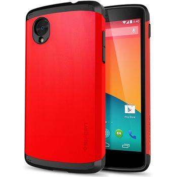 Spigen pouzdro Slim Armor Brigh Red pro Nexus 5, červená