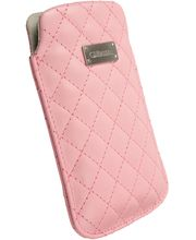 Krusell pouzdro Avenyn 3XL - HTC One X/Sensation XL, Galaxy Nexus/S II  133x71x10 mm (růžová)