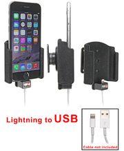 Brodit držák do auta na Apple iPhone 6S bez pouzdra, s průchodkou pro orig. kabel, samet