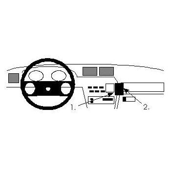 Brodit ProClip montážní konzole pro Opel Calibra 91-97, Vectra 89-95, na střed