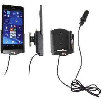 Brodit držák do auta na Microsoft Lumia 950 XL bez pouzdra, s nabíjením z cig. zapalovače/USB