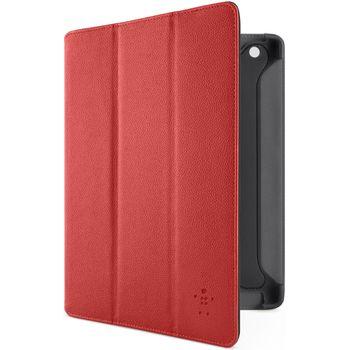 Belkin iPad 3 pouzdro Pro Trifold Folio, PU kůže, červené (F8N755cwC01)