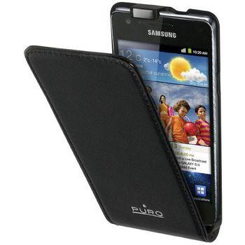 PURO pouzdro s vertikálním flipem pro Samsung Galaxy i9100 S2 - černá