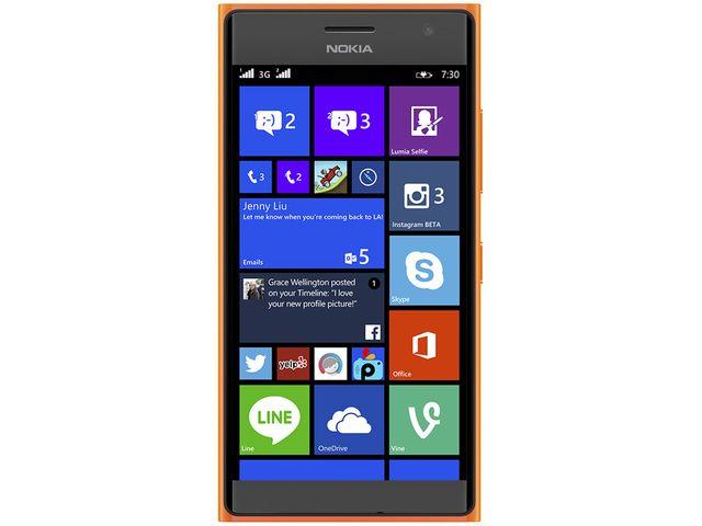 obsah balení NOKIA Lumia 735 oranžová