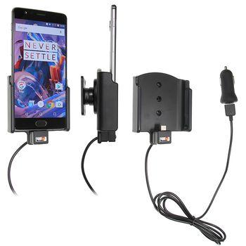 Brodit držák do auta na OnePlus 3 bez pouzdra, s nabíjením z cig. zapalovače/USB